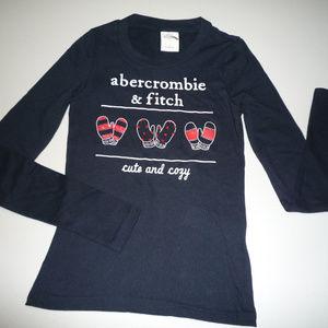 Abercrombie Kids LS Black T-Shirt, sz S
